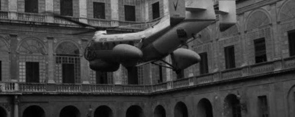 #GiovanniXXIII: il primo atterraggio  di elicottero in Vaticano
