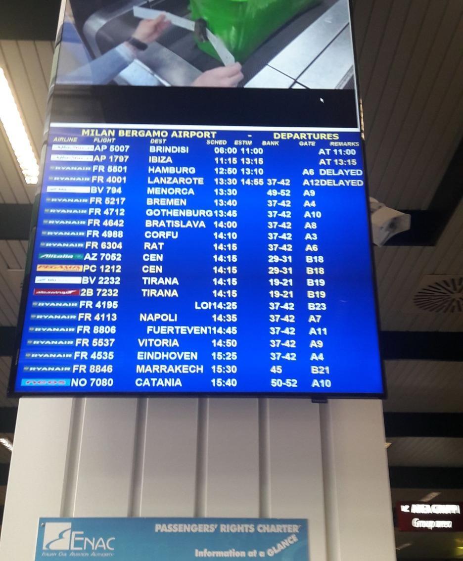 Aeroporto Brindisi : Leccesette cronaca aeroporto bloccato per maltempo caos a brindisi