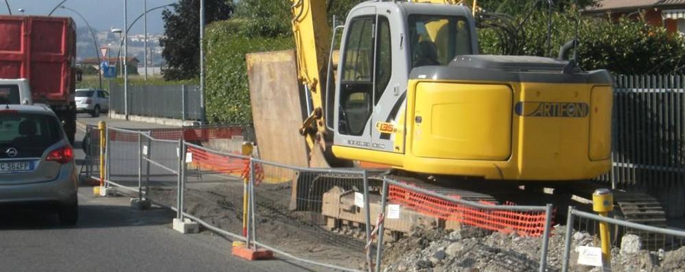Cantiere Uniacque a Redona I lavori dureranno quattro mesi