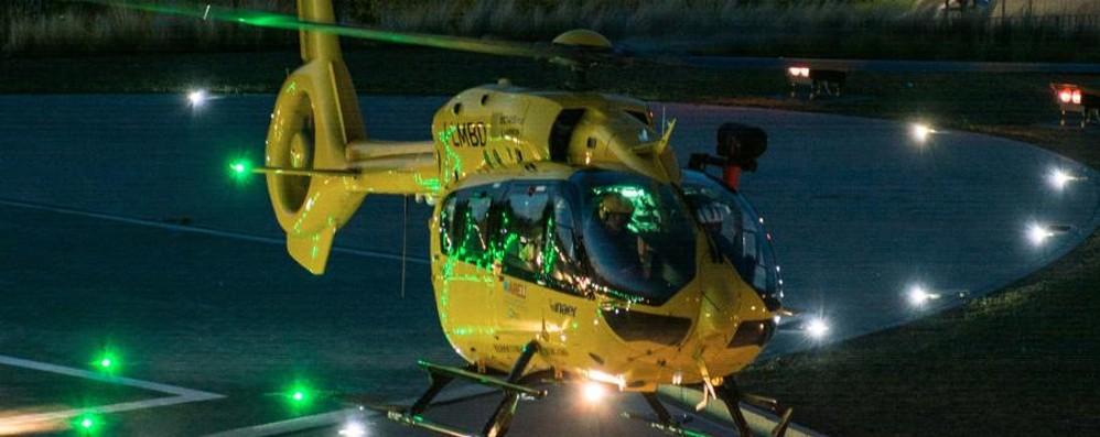 Schianto nella notte a Clusone Quattro i feriti, elicotteri in volo