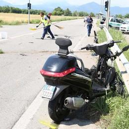 Furgone contro scooter a Mornico Grave 72enne, in ospedale con l'elicottero