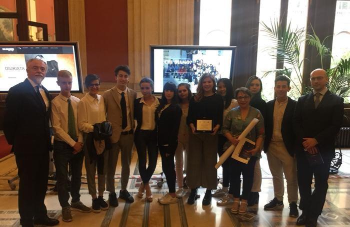 Una delegazione dell'Istituto Belotti a Roma