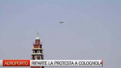 Ancora protesta per le rotte aeree su Colognola