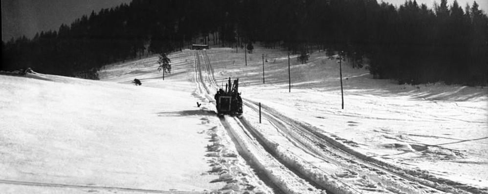 Presolana, la prima slittovia delle Orobie Ottant'anni fa era meglio di Cortina -Foto