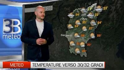 Meteo, temperature massime verso 30/32 gradi