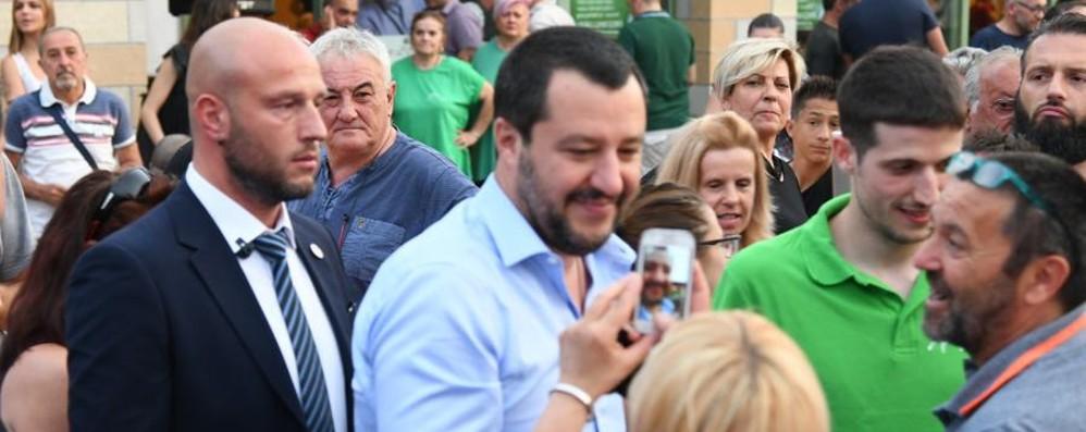 Caravaggio, Salvini alla festa della Lega  E domenica sarà anche a Pontida