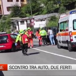Castione, incidente frontale: due feriti