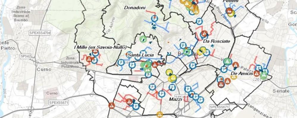 Percorsi casa-scuola, ecco tutti  i rischi Una mappa per gli studenti di Bergamo