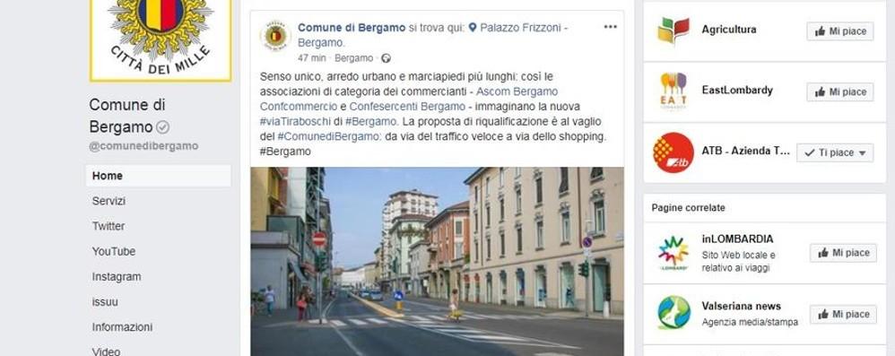 Bergamo nella top 10 dei comuni social  Il post sulle Mura Venete tra i più cliccati