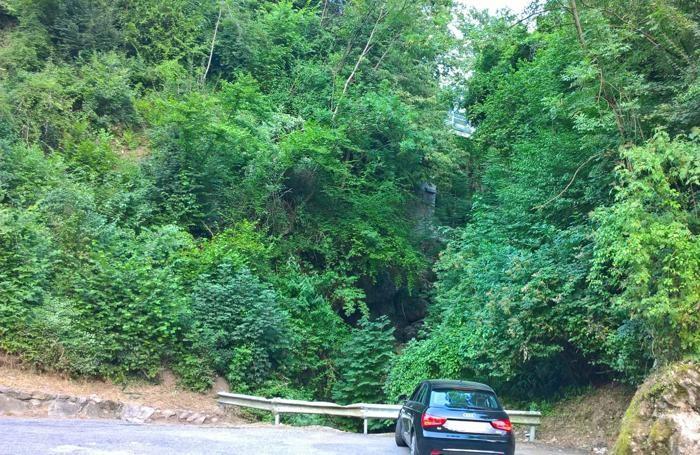 Il luogo dell'incidente a Zogno