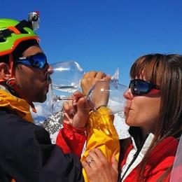 Da Romano ai 4.554 metri del «Rosa» Ecco gli sposini da record
