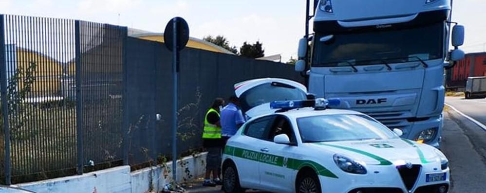 Camion sfreccia (più volte) a 120 orari Brembate, multa da 9 mila euro