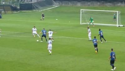 Il gol di Ilicic a Rovetta contro il Brusaporto