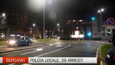 Bergamo - Polizia locale, 29 arresti in sei mesi