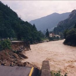 L'alluvione in Valle Brembana dell'87 «Brividi come se fosse accaduto ieri»