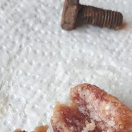 Un chiodo arrugginito nel salame Boccone avvelenato a Suisio