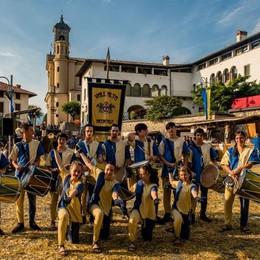 gruppo tamburini a Vall'Alta di Albino vallalta medievale