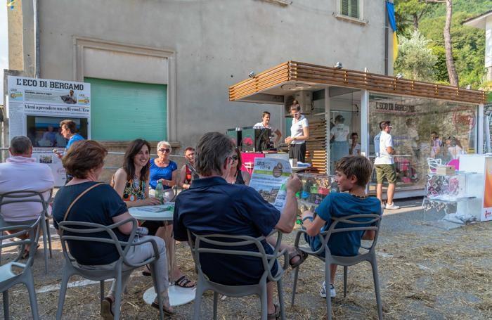 stand de L'eco cafe a Vall'Alta di Albino
