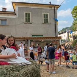 stand de L'eco cafè a Vall'Alta di Albino per Vall'Alta Medievale