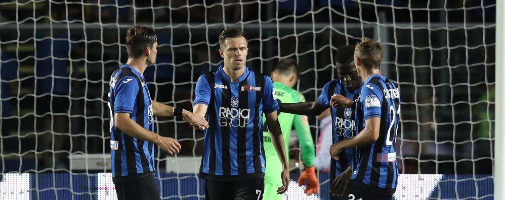 Bella Atalanta: batte Hertha 3-2 Barrow, Mancini e Ilicic in gol