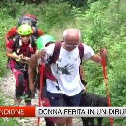 Valbondione, elisoccorso per donna ferita in un dirupo