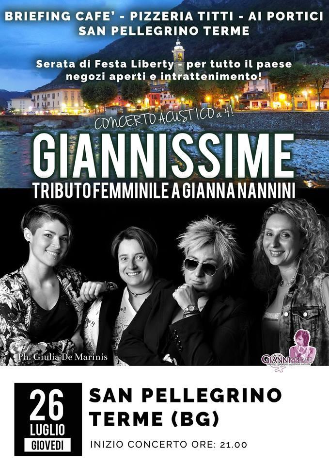 GIANNISSIME - SERATA DI FESTA LIBERTY
