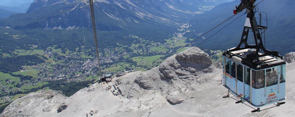 La Freccia nel cielo simbolo di Cortina