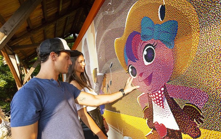 Leolandia nei Guinness dei primati con una maxi mosaico di chiodini - il video
