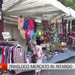 Mercato, in ritardo il trasferimento di trenta ambulanti  in Piazzale Alpini