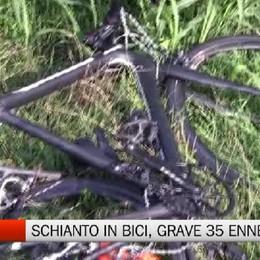 Travolto da un'auto pirata, grave ciclista 35 enne