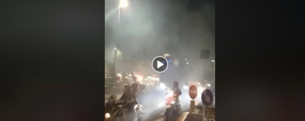 La «Motorata» verso Rovetta I tifosi «scortano» l'Atalanta – Video