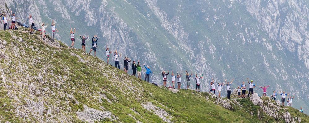 «L'Abbraccio ha cambiato la montagna» Rivivi con noi il record in Presolana