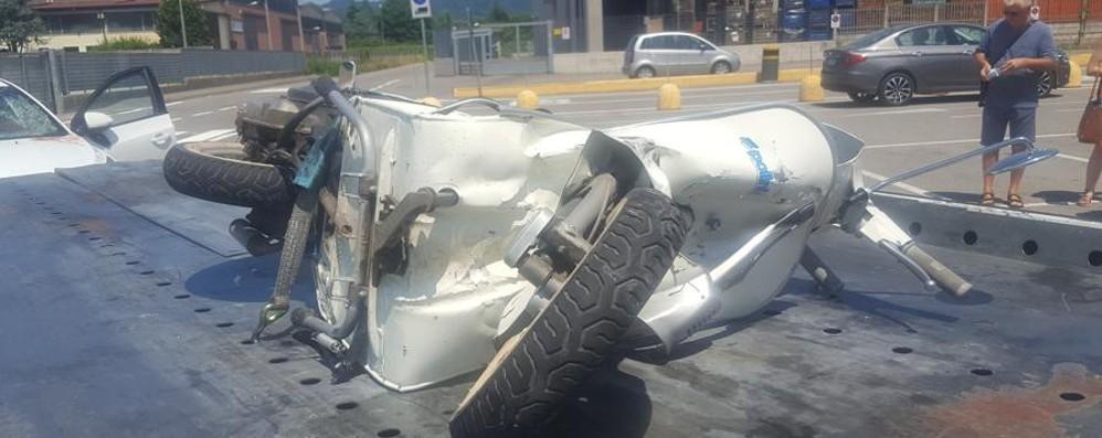 Scontro tra auto e moto a Medolago Grave 16enne, interviene l'elisoccorso