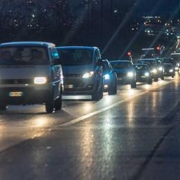 Val Seriana, traffico in tilt per tutta la sera Rientro a casa con lunghe code
