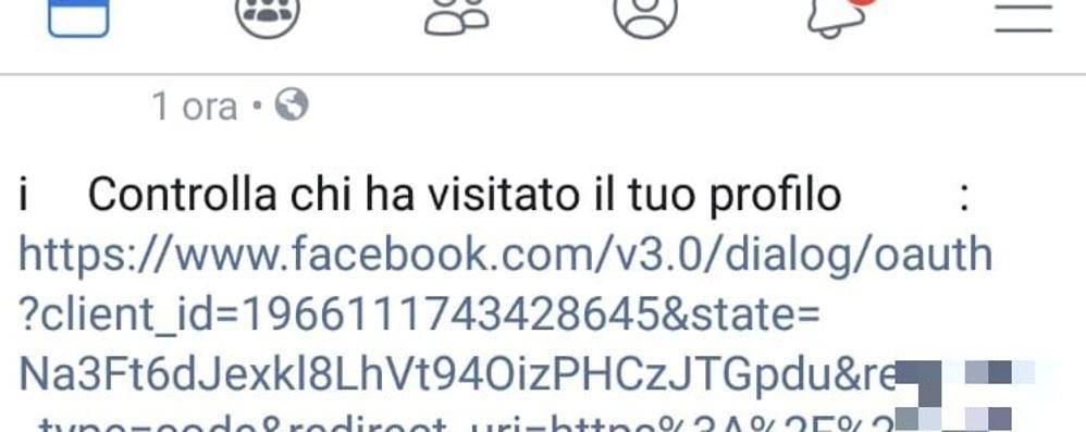 «Controlla chi ha visitato il tuo profilo» Attenzione al virus che invade i social