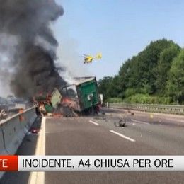 Capriate, incidente e traffico chiuso per ore in A4