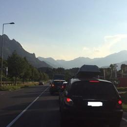 Val Seriana, lavori a Ponte Nossa Code di oltre 10 chilometri