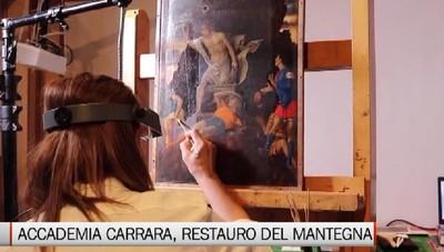 Accademia Carrara, il restauro del Mantegna
