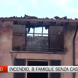 Incendio a Romano: otto famiglie senza casa