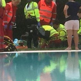 Bimbo  rischia di annegare in piscina Rianimato in extremis dai genitori
