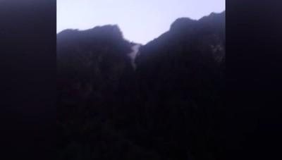Frana di Carona,  video amatoriale  La  montagna che crolla