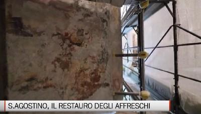 S.Agostino: il restauro degli affreschi
