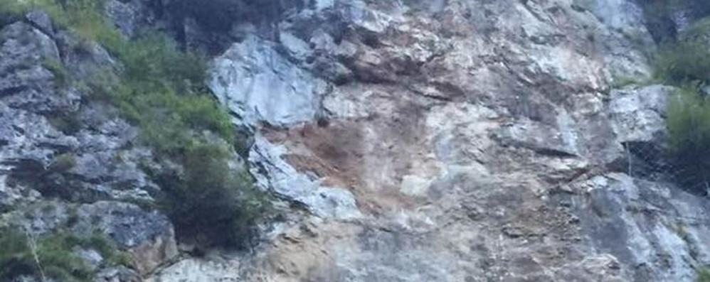 Nuova frana a Rosolo Chiusa la strada della Val Serina