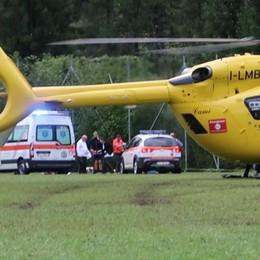 Malore per un 13enne a Fino del Monte Trasportato in elicottero al Papa Giovanni