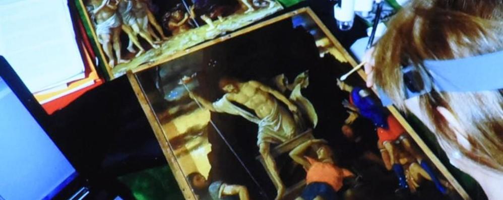 Accademia Carrara, restauro in diretta Visitatori incantatati dal Mantegna