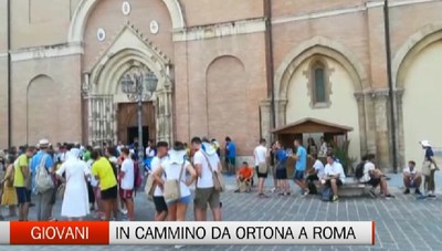 I giovani bergamaschi in pellegrinaggio da Ortona a Roma