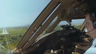 L'atterraggio di un Boeing a Orio Il video dalla cabina di pilotaggio