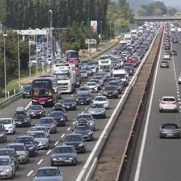 Incidente in A4 a Seriate Lunghe code in autostrada