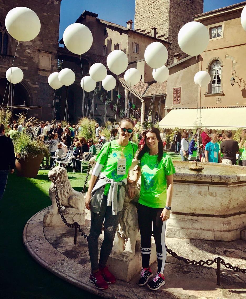 partecipanti alla Millegradini (Mille gradini) a Bergamo