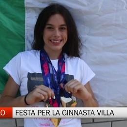 Treviolo, festa per la ginnasta Giorgia Villa